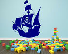 Pirate Ship Beautiful Vinyl Wall Stickers Durable Decal High Quality Decor NEW