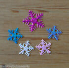 Irridesecent/Felt Snowflake - Applique - Topper - Christmas - Favour - Sewing