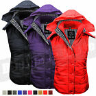 Ladies Womens Gilet Hooded Quilted Bodywarmer Top Sleeveless Vest size 8-20