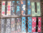 Luggage Label Address Tags 8 x Different Modern Designs Buckle Fastening BNIB
