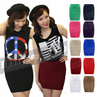 Ladies Womens Bodycon Fitted Ribbed Mini Skirt Pencil Stretch Short Zip Back