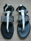 Dorothy Perkins White, Grey mix Leather sandals AIMA (NEW)-Differnt sizes-£30.00