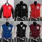 uk New york yankees custom logo baseball letterman varsity wool leather jackets