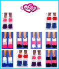 CONTAGIOUS CLUBWEAR TRI COLOUR RAVEWEAR FLUFFY LEGWARMERS FURRY BOOT COVERS