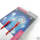 RED AUXILIARY CABLE CORD for LG PHONES - JACK 3.5mm CAR AUDIO AUX MALE WIRE