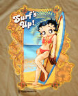 Betty Boop Surf's Up Tan Glitter Adult T-shirt $14.26 USD