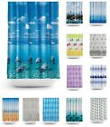 New Modern Quality Bathroom Shower Curtains - Extra Long 180 / 200CM with rings