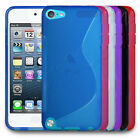 All Colour S-Line Hydro Gel Rubber Case Cover Skin fits Apple iPod Touch 5 5G