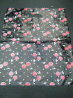 LARGE BLACK CHERRY PRINT FASHION CARRIER BAGS 40-45 PER PACK 43cmx35cm UKSELLER
