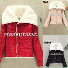 Korea Women's Fashion Big Lapel Winter Warmer Lammy Coat Jacket Outwear Hot