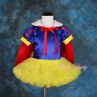 Snow White Tutu Dance Costume Fancy Party Dress Cape Baby Girl Size 9m-6y FC031