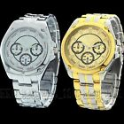 Silver Stainless Steel New Gift Luxury Dial Mens Quartz Watch Wristwatch Watches