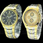 Wonderful Luxury Dial Mens Stainless Steel Quartz Watch Wristwatch Watches Gift