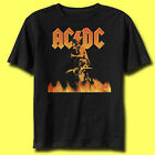 AC/DC Fire BLACK Adult T-shirt