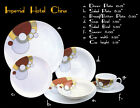Vintage NOS Art Deco Cabaret China Dishes by Noritake in 1984 1920's design 7pc.