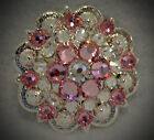 Berry Concho ~ Handcrafted with Pale or Light Pink  Swarovski Elements