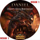 World of Warcraft Cake Topper Rice Paper/Icing 24HR DEL *3 DESIGNS! TOP Quality!