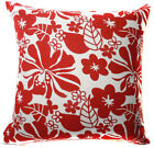 AF66a Red Plum Blossom Cotton Canvas Cushion Cover/Pillow Case *Custom Size*
