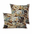AL91a Tiger Leopard Lion Cotton Canvas Cushion Cover/Pillow Case*Custom Size*