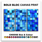 Squares Design ABSTRACT  Canvas Art Print Box Framed Picture Wall Hanging BBD