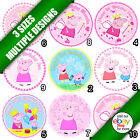 Peppa Pig  Edible Icing Picture Image Personalised Round Circle Cake Topper a