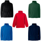 New Fruit of the Loom Childrens Kids Zip Fleece Jacket in 5 Colours Ages 3-15