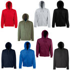 New Fruit of the Loom Mens Zip Hoodie Sweatshirt Jacket in 8 Colours S - XXL