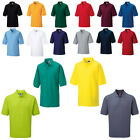 Mens RUSSELL Polycotton 2 Buttons Collared Classic Style Polo Shirts Size XS-6XL