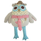 BRAND NEW Beautiful Patchwork 100% Cotton Cuddly Owl Soft Toys- BOY GIRL GIFTS