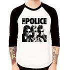 The Police band vintage 80s style Baseball Jersey t-shirt 3/4 sleeve Raglan Tee