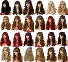 Wig Natural Long Curly Wavy Brown Blonde Black Women Fashion Ladies Full WIG B