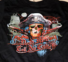 Dead Men Tell No Tales Skull Pirate BLACK Adult Shirt