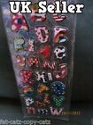 3D PUFFY SHINY METALLIC SPOTTED ALPHABET LETTERS KIDS CRAFT STICKERS UK SELLER