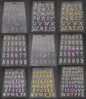 9sheets mixed designs Bling self adhesive Letter rhinestone stickers 022003029