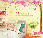 Giant 2.7M Pink Cherry Blossom Flowers Tree Wall Stickers Art Decal Paper Decor