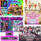 One Direction Birthday Invitations 12 Card Pack 4x6 Optional Envelopes You Print
