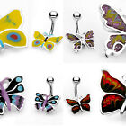 Colorful Butterfly Belly Ring Navel Naval