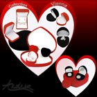 Heart Red or Black Velvet Vienna  Gift Boxes for Necklace Earring Pendant Ring