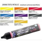 (100ml=10,31€) Javana Stoffmalfarbe Textilfarbe Metallic Pen 29ml 18 Farben