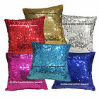 Gc202a Gold 6x9mm Sequins w/ Velvet Cushion Cover/Pillow Case *Custom Size*