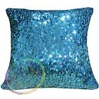 Gc205a Lt. Blue 6x9mm Sequins w/ Velvet Cushion Cover/Pillow Case*Custom Size*