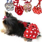 4 Colors Suspender Pet Dog Diaper Female Dog Sanitary Panty Reusable XS S M L