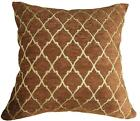 Wd24Ba Brown Gold Damask Velvet Cotton Cushion Cover/Pillow Case *Custom Size*