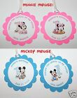 Personalized First Birthday Mickey / Minnie Mouse Party Favor Tags Gift Bag Tags