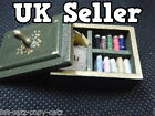 1/12th SCALE DOLL'S HOUSE MINIATURE SEWING BOX AND KIT REMOVABLE LID UK SELLER