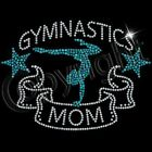 Gymnastics Mom T-Shirt Sequin tshirt Bling shirt Mom Gifts Crew Neck SM-2XL