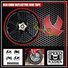 RED REFLECTIVE RIM TAPE WHEEL STRIPE TRIM CAR BIKE BICICYLE DECAL 16 17 18 19