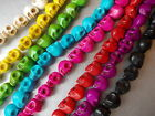 10, 20 Or 40 Colourful Howlite Skull Beads, Halloween Skulls Jewelry,chose Color