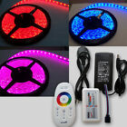 SMD 5050 RGB Waterproof Strip+2.4G RF Touch Remote Controller+12V 5A Adapter