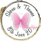 PERSONALISED WEDDING DAY PINK BUTTERFLY MINT CHOCOLATES FAVOURS SWEETS WDMC 4